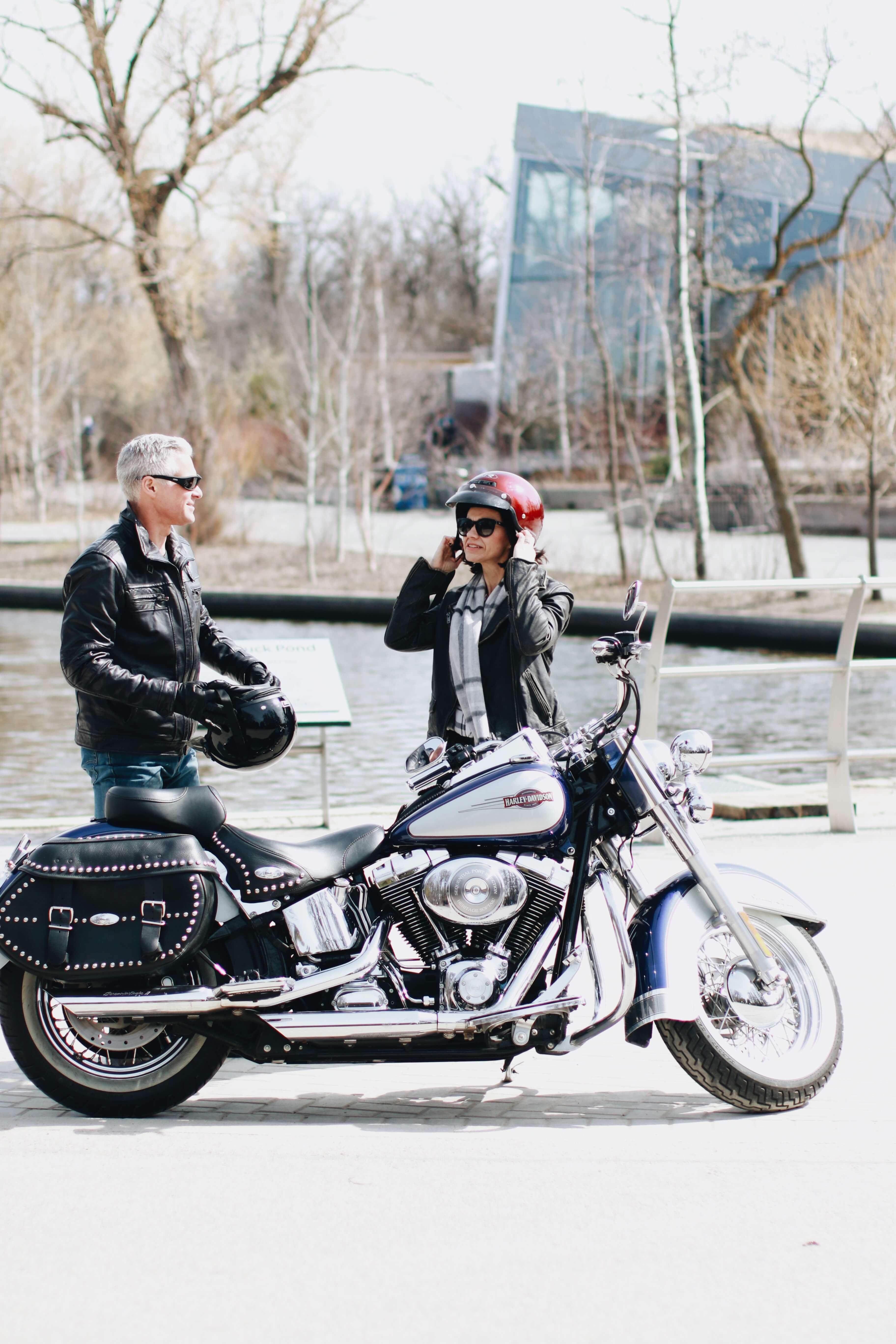 Modern Middle Aged Couple - Harley Davidson