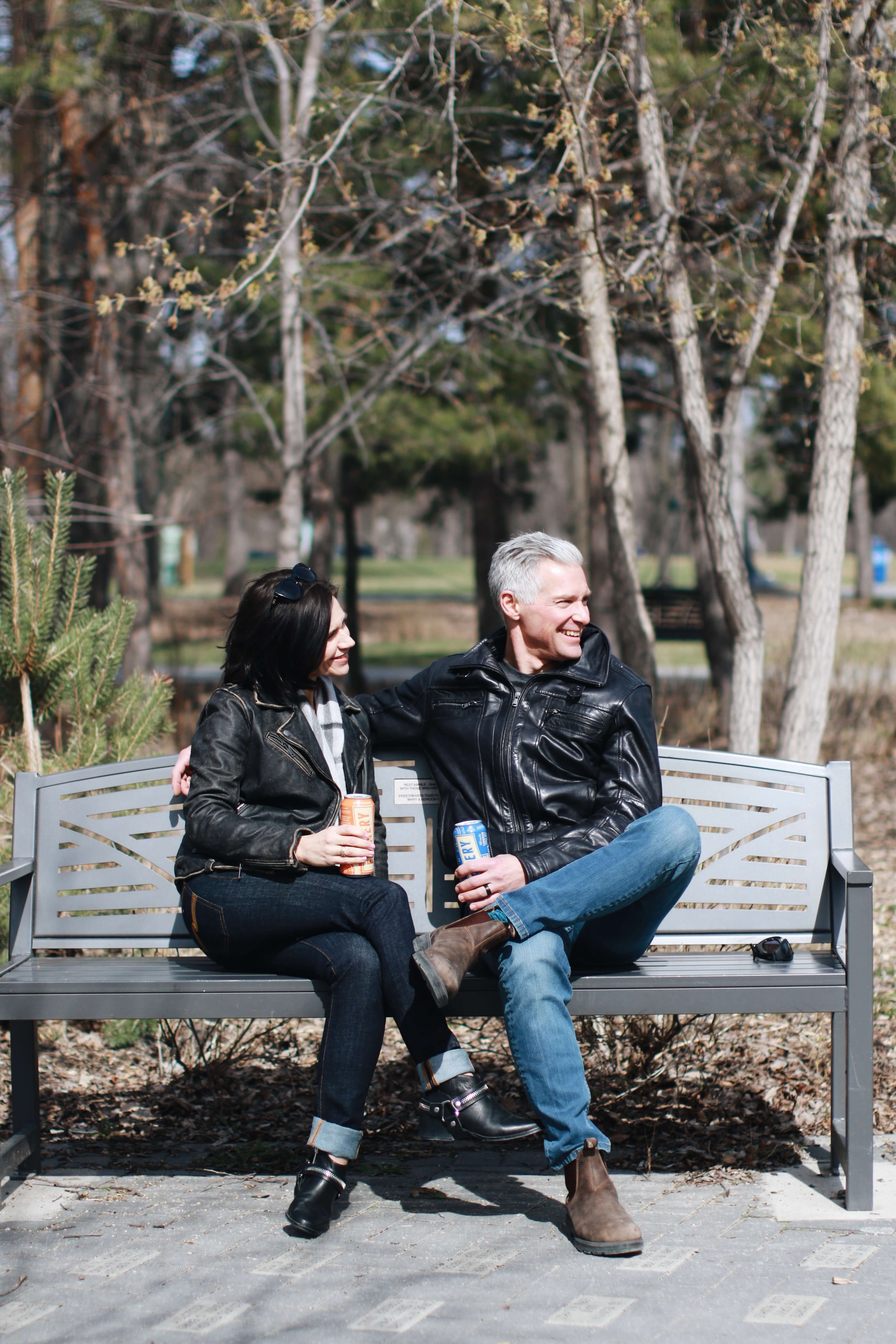 Modern Middle Aged Couple - in the park