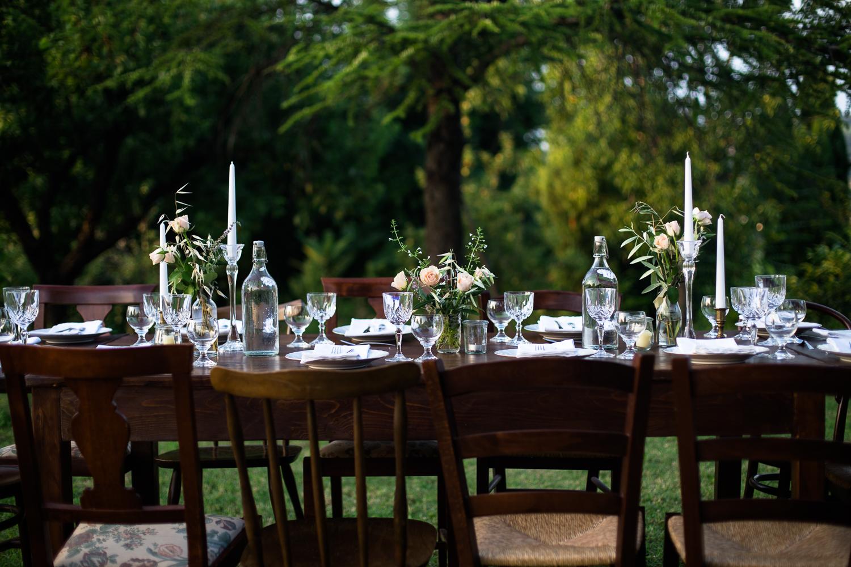 Al fresco dining - table
