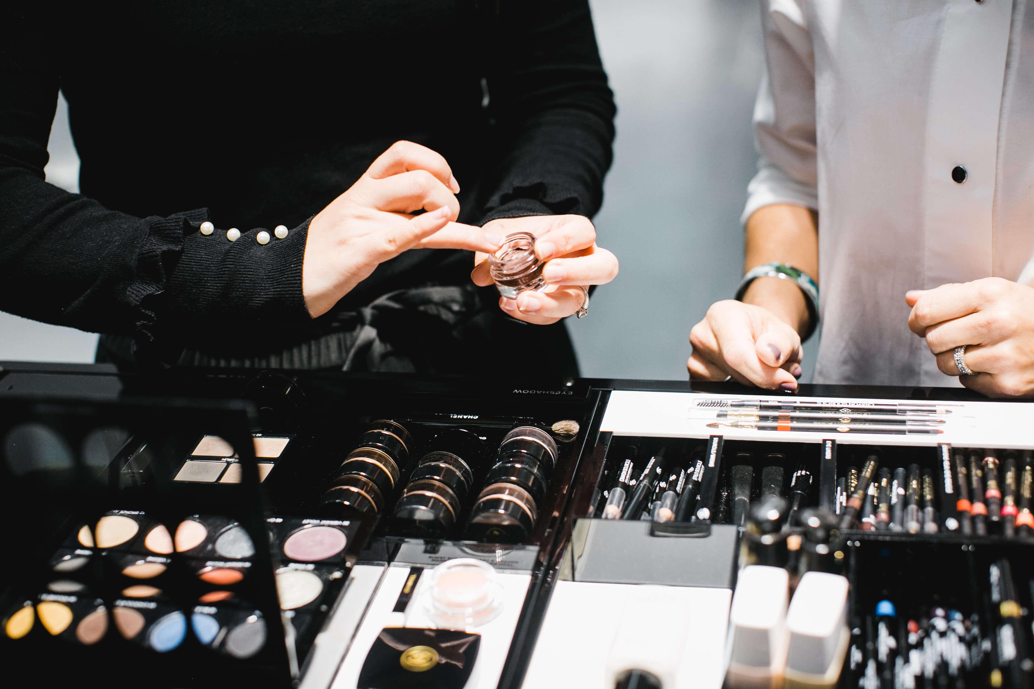 Cosmetic Counter - Fall Makeup