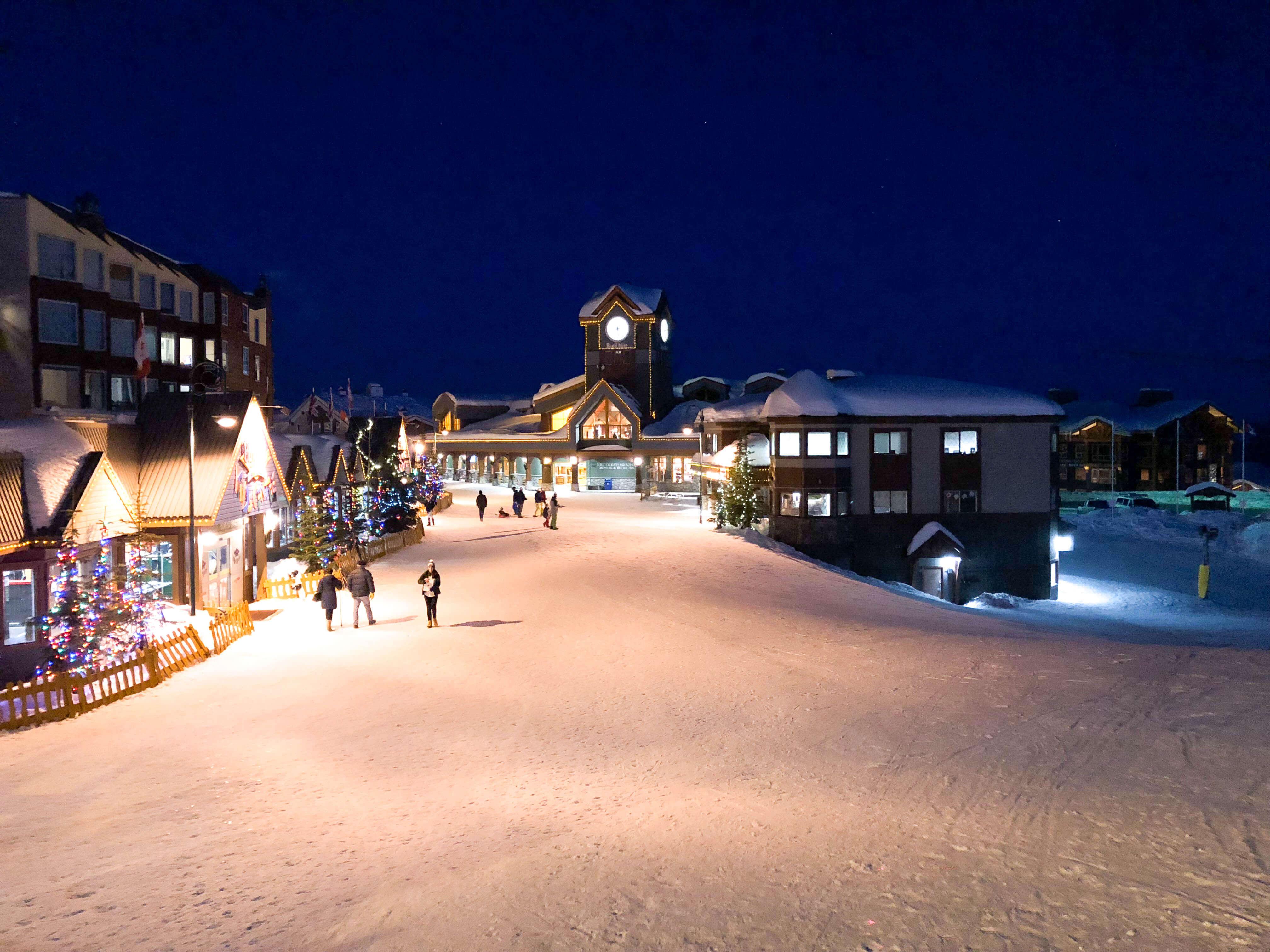 Big White Ski Resort at night