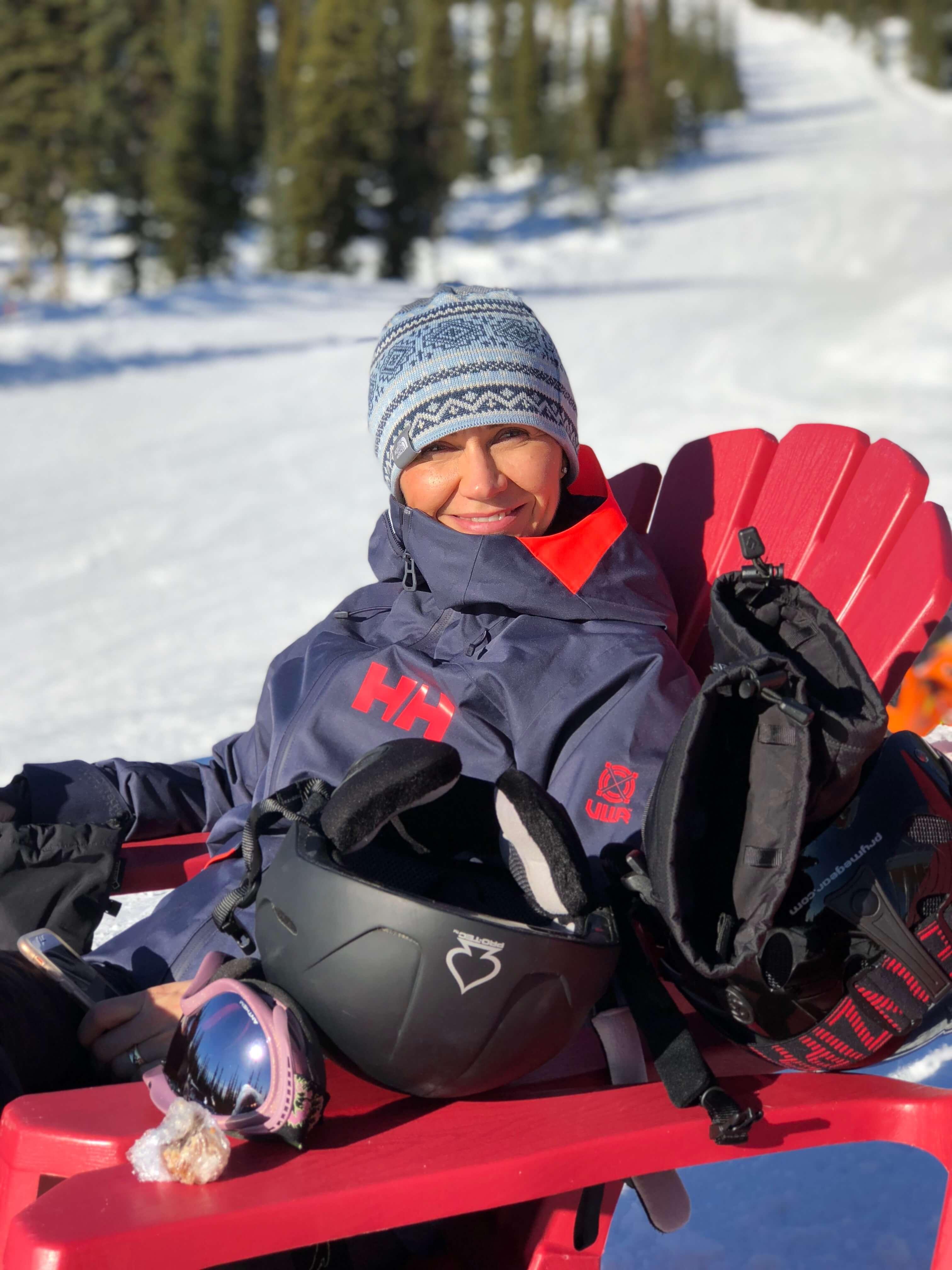 downhill skiing - woman