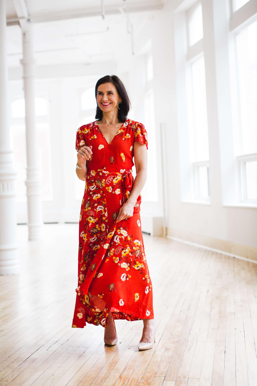 Floral spring dresses - woman